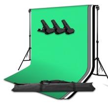 Foto Studio Tragbare Hintergrund Stand Kit 2x2m Hintergrund Unterstützung System Weiß Schwarz Green Screen Chroma key Fotografie hintergrund