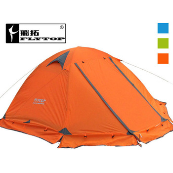Good quality Flytop double layer 2 person 4 season aluminum rod outdoor camping tent Topwind 2 PLUS with snow skirt цена 2017