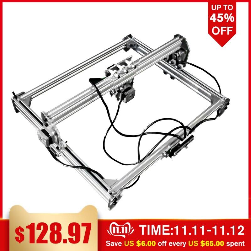 50*65cm Mini 3000MW Blau Laser Gravur Stecher Maschine DC 12V DIY Desktop Holz Cutter/ drucker/Power Einstellbar + Laser