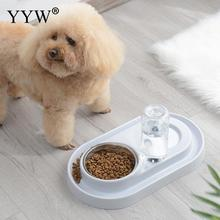 Stainless Steel Double Pet Bowls Food Water Feeder For Dog Puppy Cat Pets Supplies Feeding Dishes Pp Bowl Products