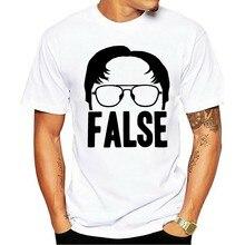 Camiseta homens 2021 unissex gráfico tcinza preto o texto dwight falso tamanho