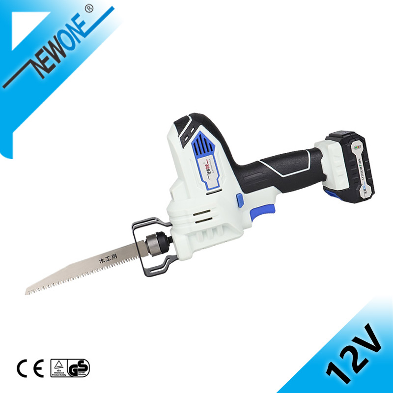 NEWONE 12V Cordless Mini Handsaw Saber Saw in Electric Saw With Battery,Power Tool Portable Reciprocating Saw Blade For Wood