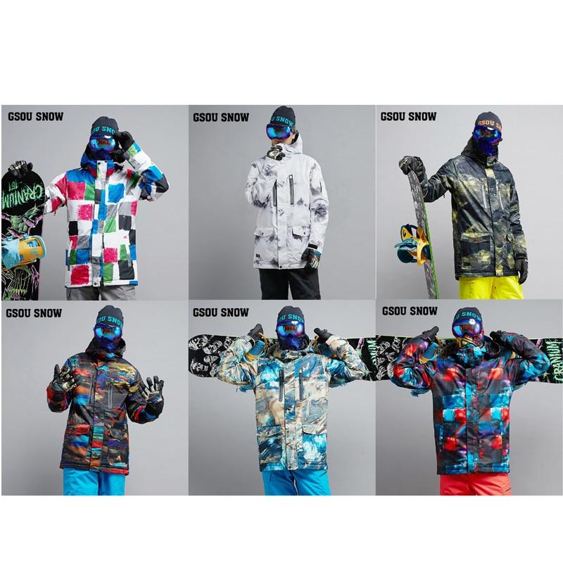 High  Quality Men's Snow Suit Wear Outdoor Sports Skiing Jackets 10k Waterproof Windproof Snowboarding Costumes Ski Jackets