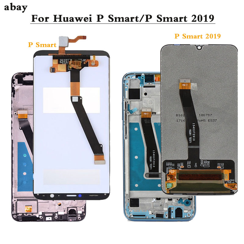 LCD For Huawei P Smart 2019 6.21'' POT-LX1 L21 LX3 LCD With Frame LCD Screen Display For Huawei P Smart  5.65'' LCD Screen