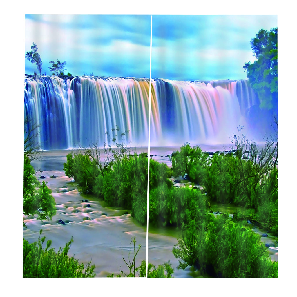 Photo Curtains 3d Windows Waterfall Scenery Modern Curtains For Living Room Bedroom Hotel Photo Print Curtains