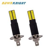 2 шт. H1 H3 canbus светодиодные лампочки 4014 36SMD 6000K белые Автомобильные противотуманные фары, вождения, бега, светодиодные лампы 12V 24V H1 H3 светодиодные лампы для замены