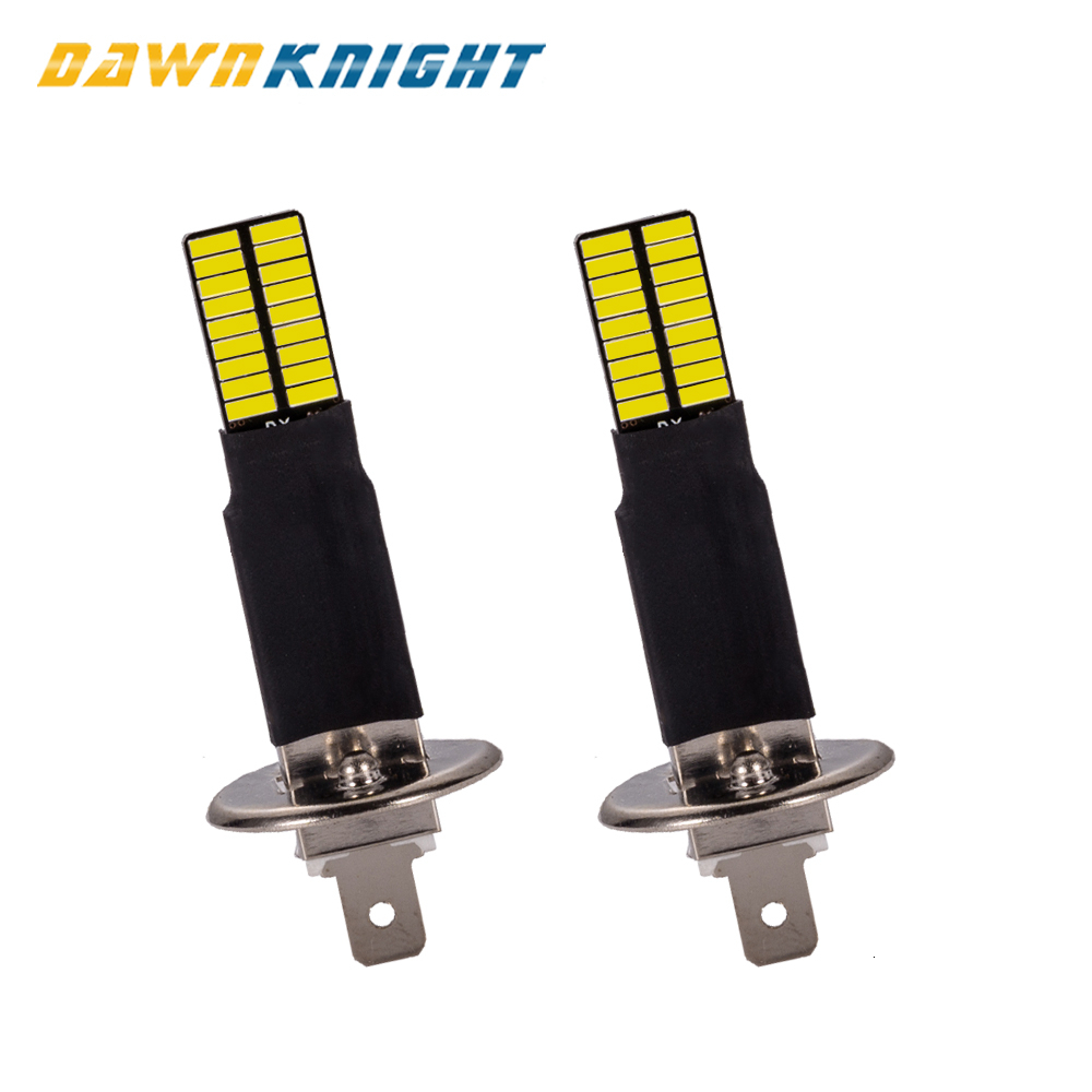 2PCS H1 H3 Canbus Led Bulbs 4014 36SMD 6000K White Car Fog Lights Driving Running Lamp 12V 24V H1 H3 Led Replacement Bulbs