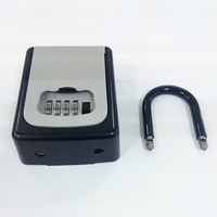 4 Digit Combination Lock Key Safe Storage Box Padlock Security Home Outdoor Supplies OUJ99