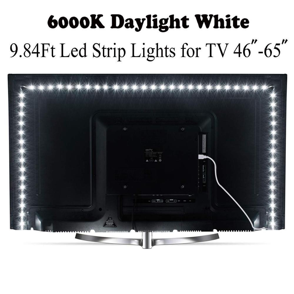 DC5V USB LED Strip SMD2835 Flexible Light 2M RGB LED Strips Adhesive Tape For TV Background Lighting