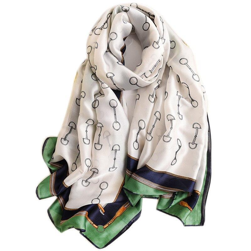 Large Size Women Scarf Silk Shawls New Designer Print Lady Scarves Bufanda Beach Wraps Foulard Head Band