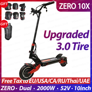ZERO 10X scooter 10inch dual motor electric scooter 52V 2000W off-road e-scooter 65km/h double drive high speed scooter off road(China)