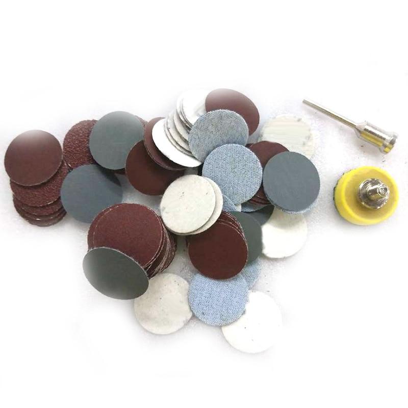 100x Mixed Grit 600 1000 2000 3000 Sanding Disc Round Abrasive Dry Sandpaper Kit