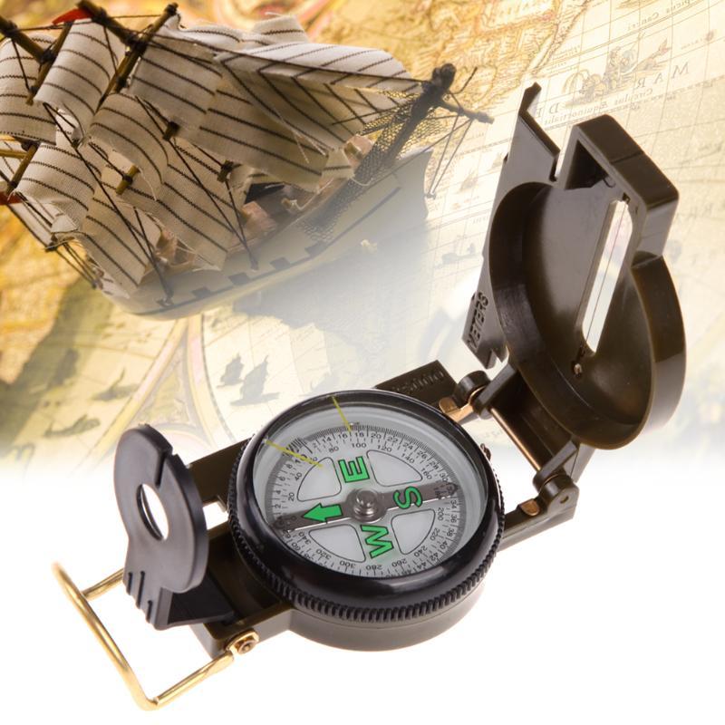 Портативные тактические часы компас со складной линзой армейский зеленый открытый кемпинг компас военный тактический комплект Карманный ...