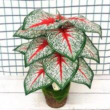 46CM 40CM Künstliche Banyan Pflanzen Zweig Tropical Kunststoff Palme Innen Gefälschte Topf Hotel Büro Garten Weihnachten Home decor