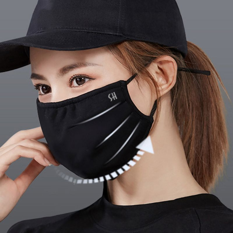 Unisex Winter Plush Lining Half Face Mouth Mask Dustproof Windproof Mouth-Muffle