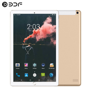 BDF Android Tablet 10 Inch Touch Screen Support Phone Call Dual SIM Cards 1GB/16GB Tab Kids Educational Learning Pad Tablet Pc