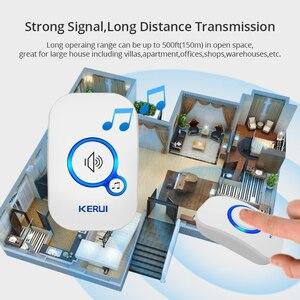 Image 5 - KERUI 무선 스마트 초인종 홈 보안 알람 Welcome Doorbell LED Light 32 방수 버튼이있는 노래 쉬운 설치