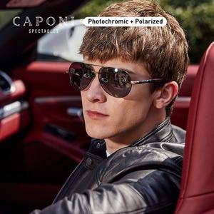 Image 1 - Мужские поляризационные солнцезащитные очки CAPONI Pilot, фотохромные солнцезащитные очки для вождения, новый дизайн 2020, Gafas de sol Masculino BS8725