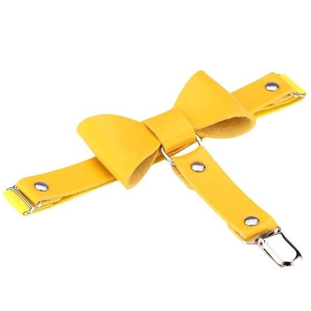 harajuku handmade punk Rock goth Bow garter belts leg ring  Punk Women Solid Color Bowknot Elastic Leg Garter Belt Thigh Ring NE 4