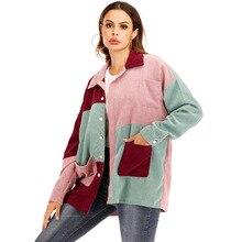 Фотосессия Ozhouzhan осень и зима стиль смешанные цвета вельветовое пальто рубашка Женская алиэкспресс Лидер продаж