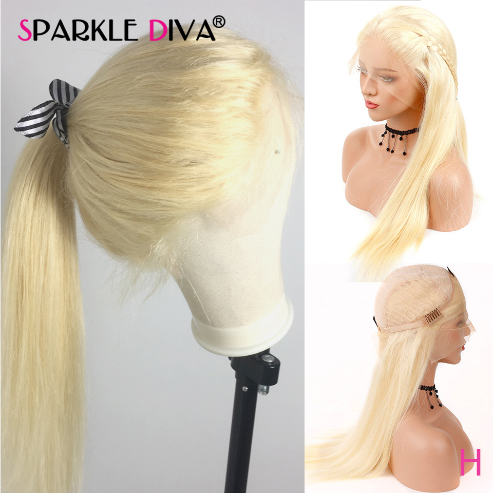 613 Lace Front Wig For Black Women Honey Blonde Gluless Human Hair Lace Front Wig Pre Plucked HairLine Malaysian Straight Remy
