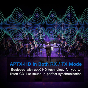 Image 5 - Nsendato Bluetooth 5.0 Music Audio Transmitter Receiver Support aptX/HD/LL Switch 3.5mm 80m/262ft Long Range Wireless Adapter TV