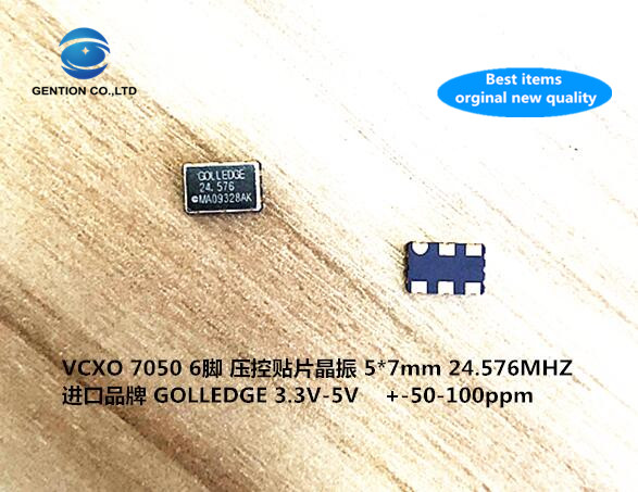 5pcs 100% New And Orginal Active Patch Voltage Controlled VCXO Crystal 24.576M 24.576MHZ 5070 7050 5X7 Imported