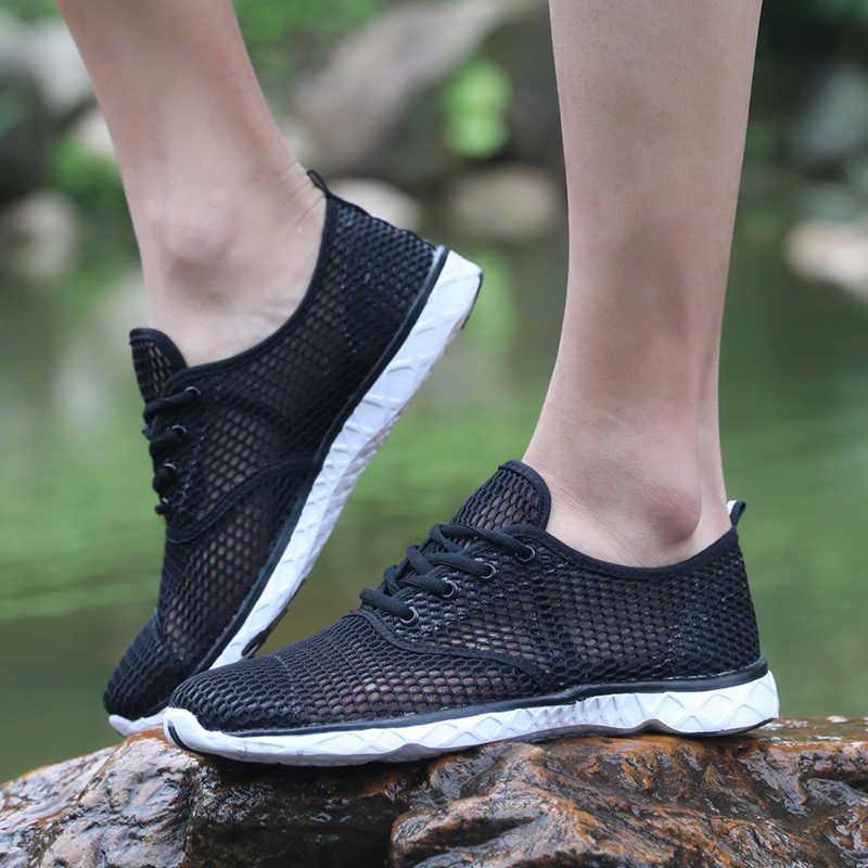 """Mùa Hè Thoáng Khí Nam Giày Nhẹ Đệm Giày Đi Bộ Nam Ngoài Trời Giày Zapatillas Mujer """"Sapato Lớn Kích Thước 46"""