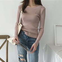 Pink Knitted Slim Pullover