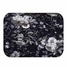 Beautiful Flower Design Non slip Suede Rug, Door Mat, Outdoor Door Mat, Kitchen or Bedroom Rug, Home Bedroom Decoration 40x60cm.