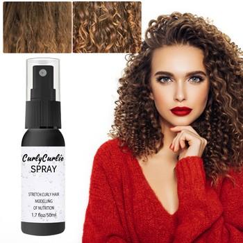 Magic Hair Curly Spray żel do stylizacji włosów nawilżają loki o dużej objętości stylizacja włosów silny żel do stylizacji włosów żel do stylizacji włosów 30 50ML vaporisateur tanie i dobre opinie QIAOYAN CN (pochodzenie) as show Extra-Volume Magic Spray Hairspray Hair Styling Spray