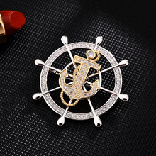 Anchor cc brooch High-end brooches for men enamel pin Fashion Jewelry hijab pins Dress coat Accessories men gifts Rotatable pins brooches for women hijab pins fashion jewelry cc brooch gifts for women high end wedding brooch dress accessories enamel pins