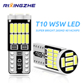 RXZ 10PCS T10 Led Canbus W5W Led Bulbs 168 194 6000K White Signal Lamp Dome Reading License Plate Light Car Interior Lights Auto