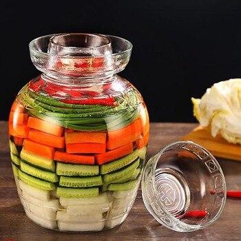 2500/5000/7500/10000 ml Thicken Transparent Glass Pickle Jars Kimchi Jar Home Vegetables Pickled Bottle Food Sealed Storage Cans