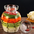 2500/5000/7500/10000 ml Verdicken Transparent Glas Gurke Gläser Kimchi Jar Home Gemüse Gebeizt Flasche Lebensmittel Abgedichtet Lagerung dosen-in Teedosen aus Heim und Garten bei