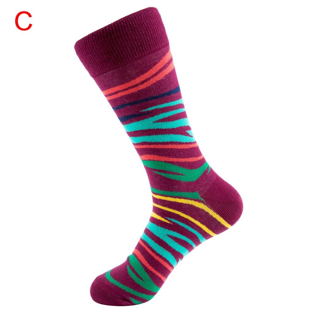 ORLVS счастливые носки унисекс осень зима длинные носки Мужская calcetines skarpetki meia calcetines hombre divertido хлопковые носки#4 - Цвет: C