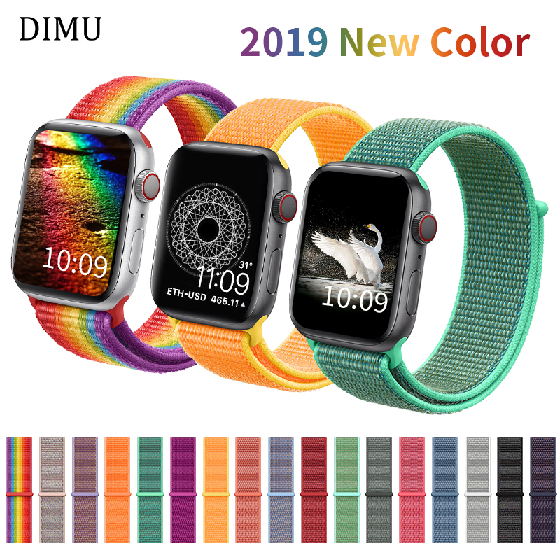 DIMU Band For Apple Watch Series 3/2/1 38mm 42mm Nylon Soft Breathable Replacement Watchband For iWatch 4 Sport Strap 42mm 44mm