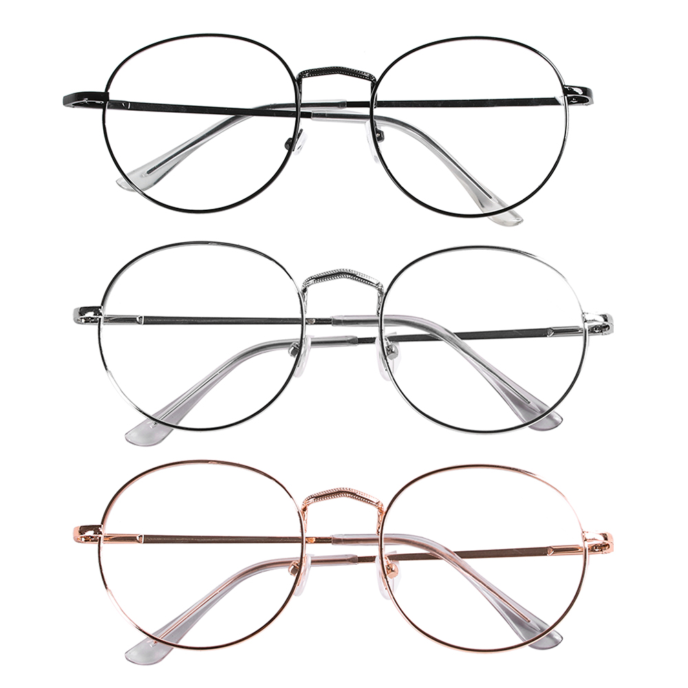 Ultra Light Finished Metal Round Vintage Myopia <font><b>Glasses</b></font> New Classic Nearsighted Eyeglasses Diopter -<font><b>1</b></font> -<font><b>1</b></font>.<font><b>5</b></font> -2 -2.<font><b>5</b></font> -3 -3.<font><b>5</b></font> -4 image