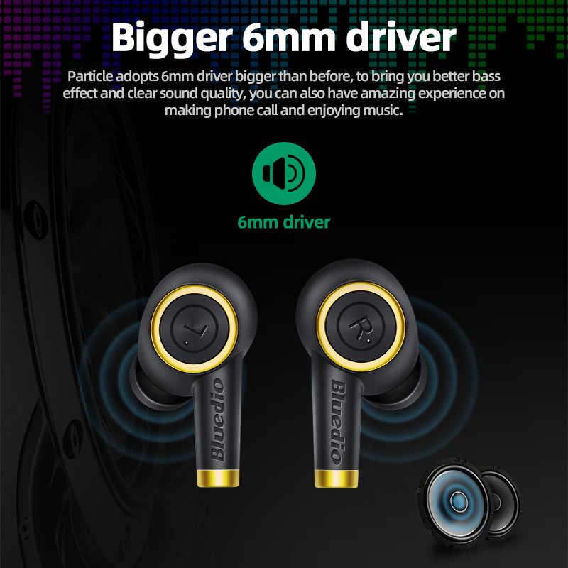 Altavoz Bluedio, auricular inalámbrico, Bluetooth 5,0, bajo, auriculares impermeables, auriculares inalámbricos, deporte, TWS, caja de carga, micrófono