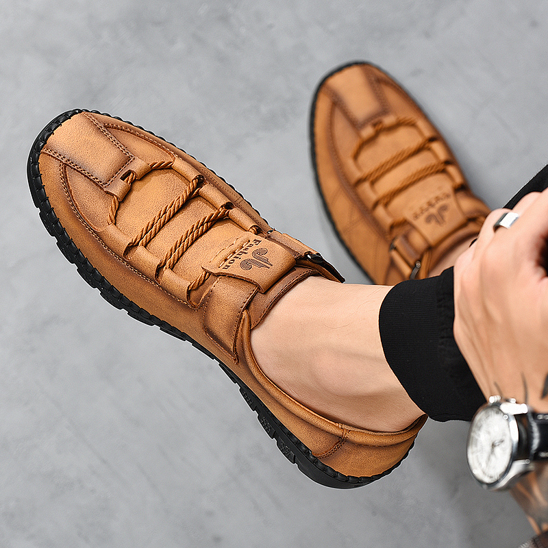 Brand New Comfortable Casual Leather Shoes Men Loafers Waterproof Split Leather Men Shoes Flats Hot Sale Moccasins Shoes Plus Sz