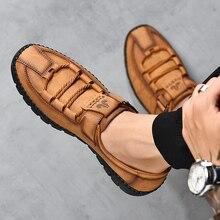Mocassins en croûte de cuir, confortables, chaussures pour hommes, mocassins étanches, plates, décontracté, mocassins Plus Sz, offre spéciale