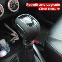 Para mitsubishi yige, outlander lancer evolution 6-speed manual shift knob alavanca de mudança de engrenagem caixa de velocidades couro preto