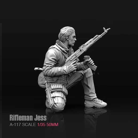 1//35 Captain Rifleman Jess Modified Resin Soldier Decor White Mold T5B3 50mm