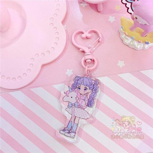 1pc Lovely Japan Pink Girl Bear Keychain Keyring Bags PendantDolls & Stuffed Toys