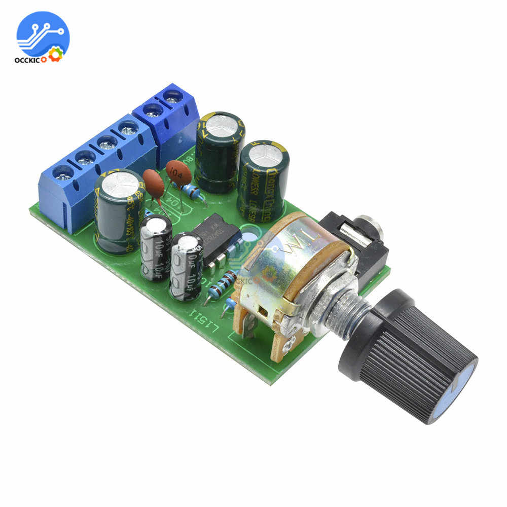 DC 1.8-12V TDA2822M 2.0 סטריאו אודיו מגבר לוח ערוץ כפול AMP AUX מגבר לוח מודול לarduino