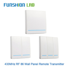 FUNSHION 433MHz Universal Wireless Remote Control86 Wall Panel RF Transmitter   Receiver 1 2 3 Button For Home Room Light Switch