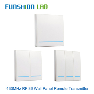 Image 1 - FUNSHION 433MHz uniwersalny bezprzewodowy pilot Control86 Panel ścienny nadajnik RF odbiornik 1 2 3 przycisk dla domu światło do pokoju przełącznik
