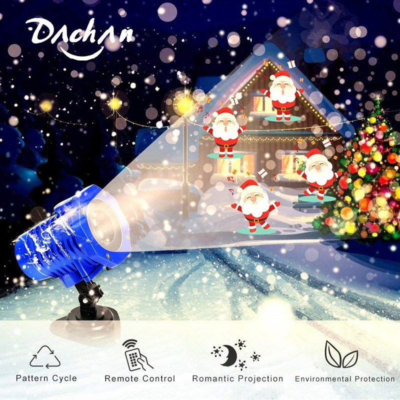 Projection Light Animated Led Projector Remote Control Light Christmas Halloween Projector Lights For Yard Garden Party Lights