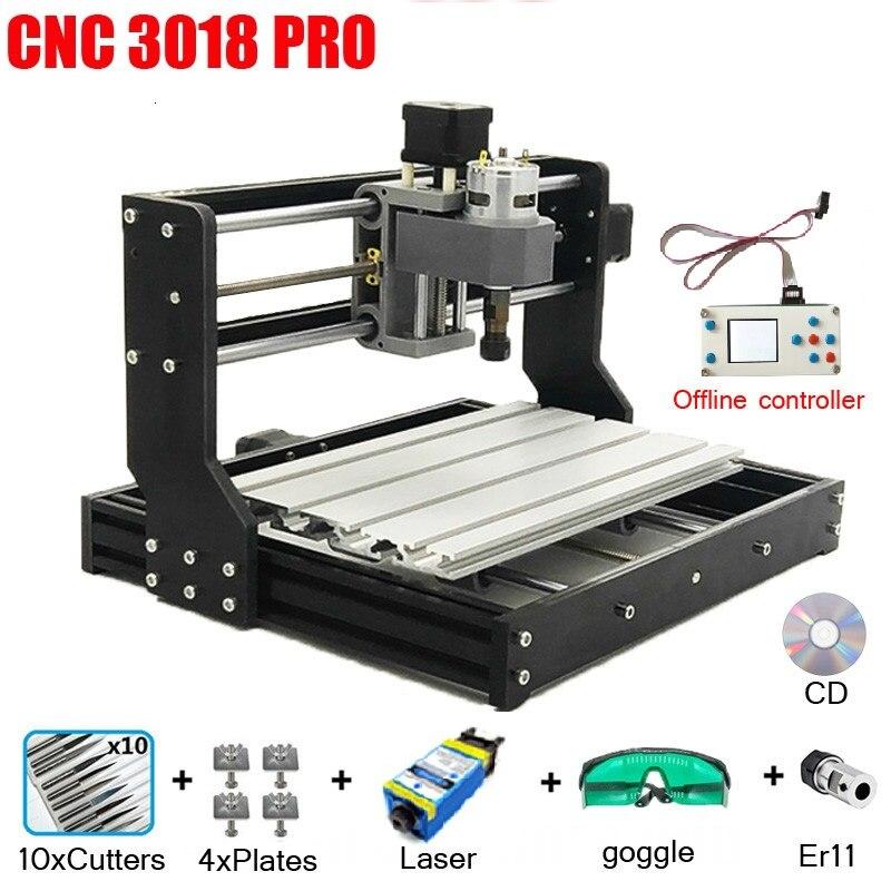 CNC 3018 PRO graveur Laser bois CNC routeur Machine GRBL ER11 passe-temps bricolage gravure Machine pour bois PCB PVC Mini CNC 3018 graveur
