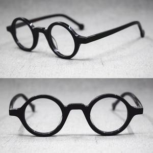 Image 3 - Lunettes rétro, petites montures de lunettes de style Vintage, rondes faites à la main, jante complète en acétate, Rx able